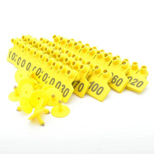 Brinco Para Identificação de Bovinos Suínos Numerado 001 a 100 - 100 Unidades