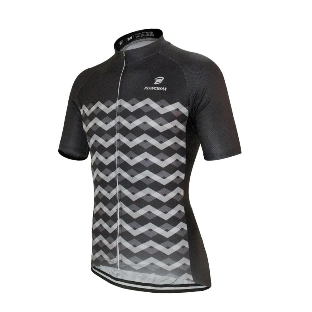 Camisa Ciclismo Bike Mtb Kuw Manga Curta Preta/Cinza