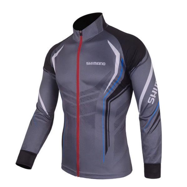 Camisa De Ciclismo Pesca Shimano Proteção UV Cinza