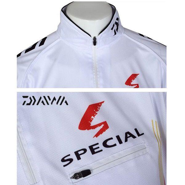 Camisa De Pesca Daiwa Proteção UV Branca  - Casafaz