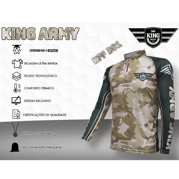 Camisa De Pesca King Brasil KFF301  - Casafaz