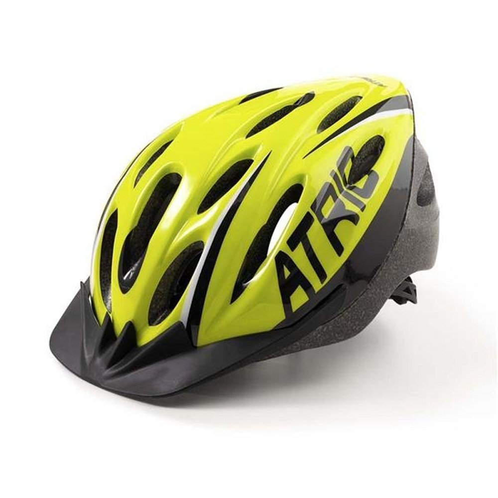 Capacete Ciclismo MTB 2.0 Neon e Preto Com Led Atrio