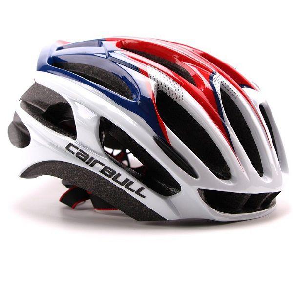 Capacete Ciclismo MTB Bike Mold Cairbull 58-62 Azul/Vermelho