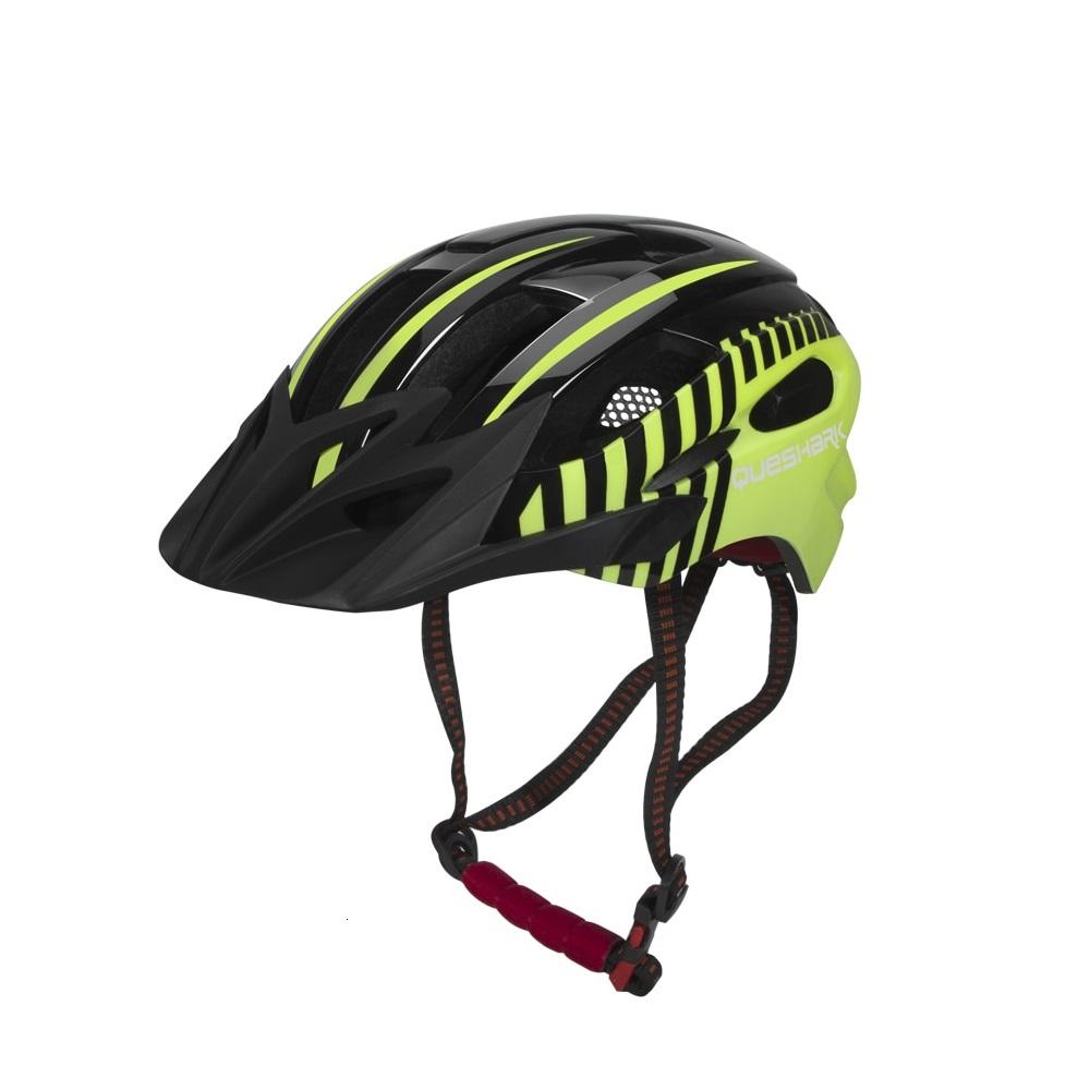 Capacete Ciclismo MTB Bike Mold Queshark Com Led 56 a 62cm