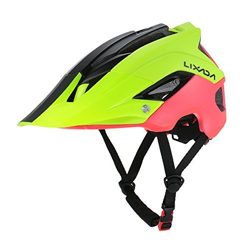 Capacete Ciclismo MTB Road Bike Mold Lixada Yellow/Red 56 a 62cm