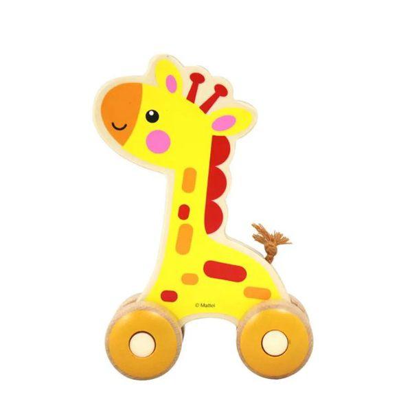 Carrinho de Madeira Fisher-Price Passeio Com Girafa Multikids - BR985