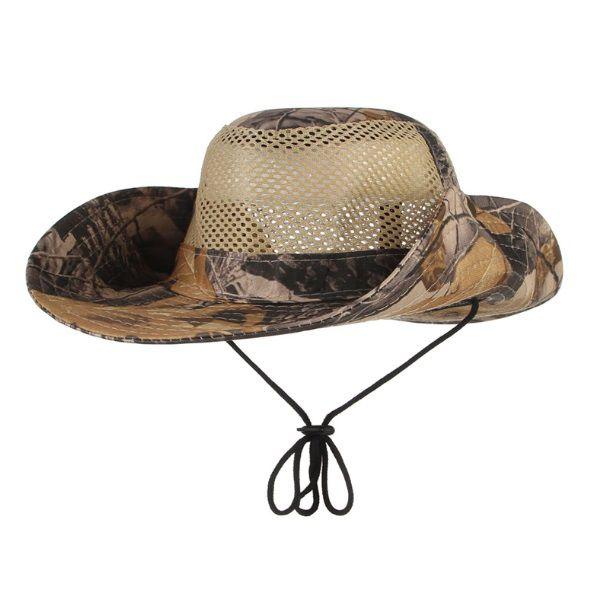 Chapéu Tático Boonie Com Tela Camuflado Caça Camping Pesca Selva 01  - Casafaz