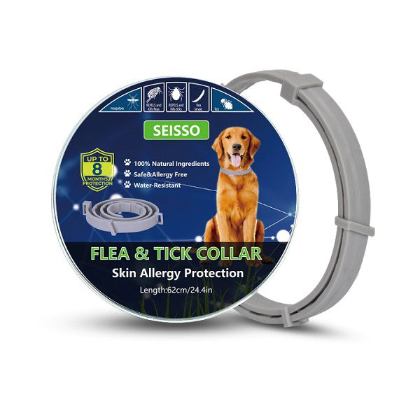 Coleira Antipulgas E Carrapatos Para Cães Proteção 8 Meses Seisso