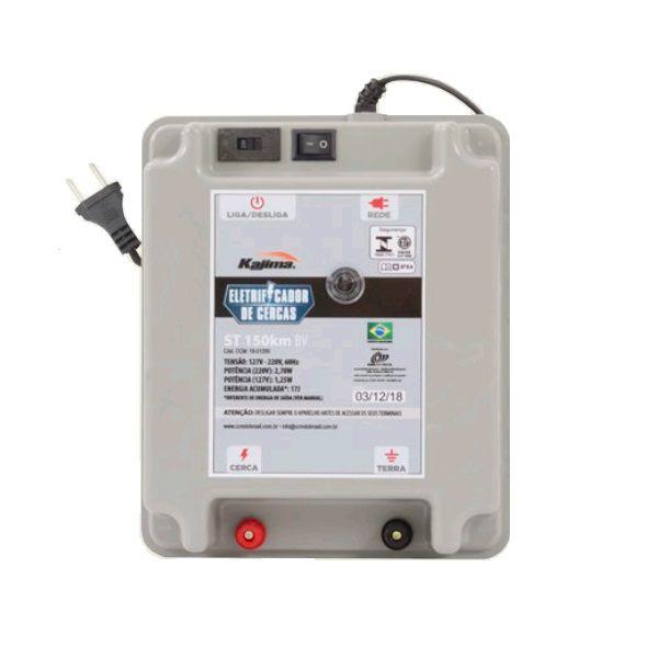 Eletrificador Rural Cerca Elétrica Kajima ST 150Km Bivolt