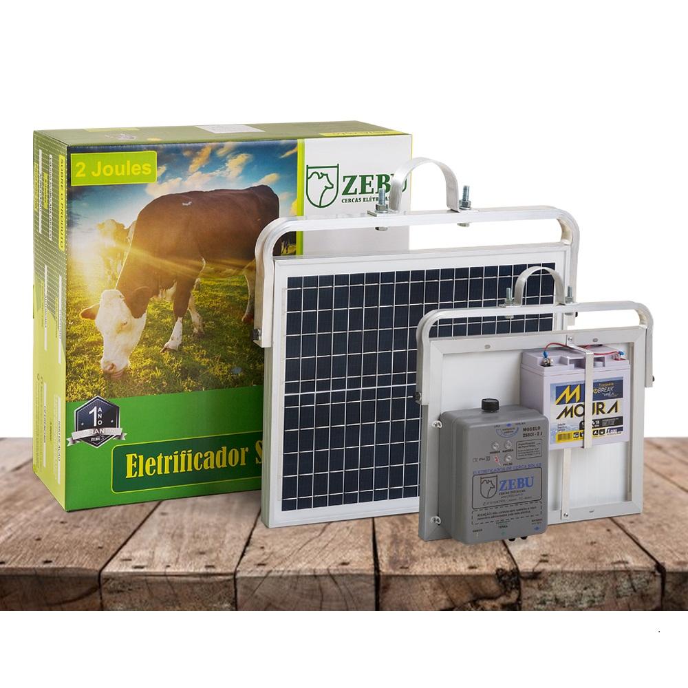 Eletrificador Rural Cerca Elétrica Solar ZS50IBI Zebu (Solar/Bateria 12V)