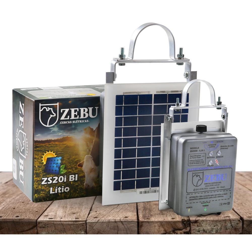 Eletrificador Rural Cerca Elétrica Solar ZS20IBI Zebu (Solar/Baterias De Lítio)