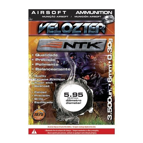 Esferas para Airsoft 0,30g 6mm Velozter 3500 Unds Nautika