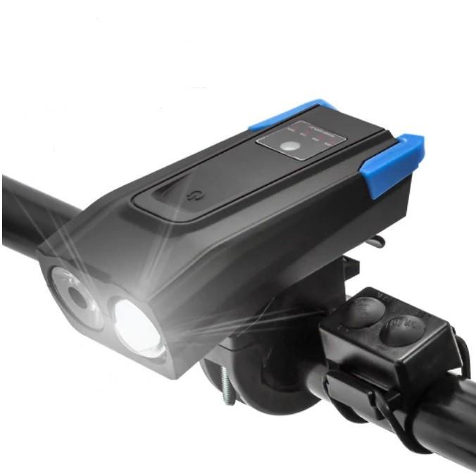 Farol de Bike 800 Lumens e 4000mAh Blue Light + Buzina Victgoal