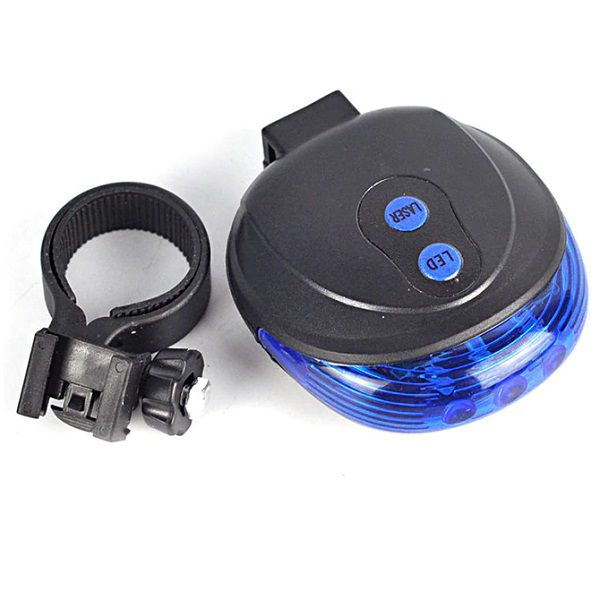 Farol Lanterna Traseira Bike Com Ciclovia Laser Sinalizador E Farol De Led Azul