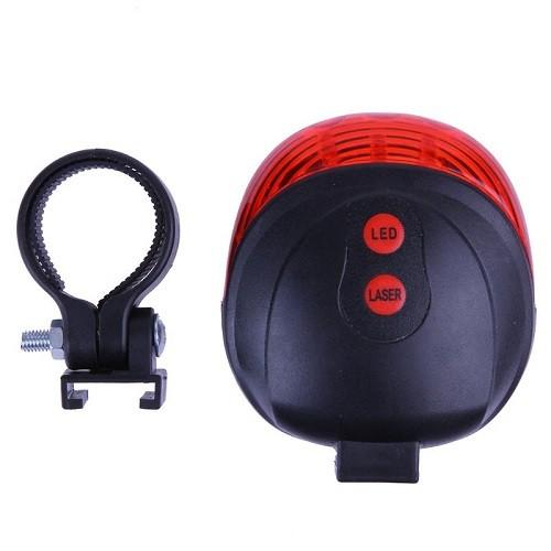 Farol Lanterna Traseira Bike Com Ciclovia Laser Sinalizador E Farol De Led Vermelho DW-681