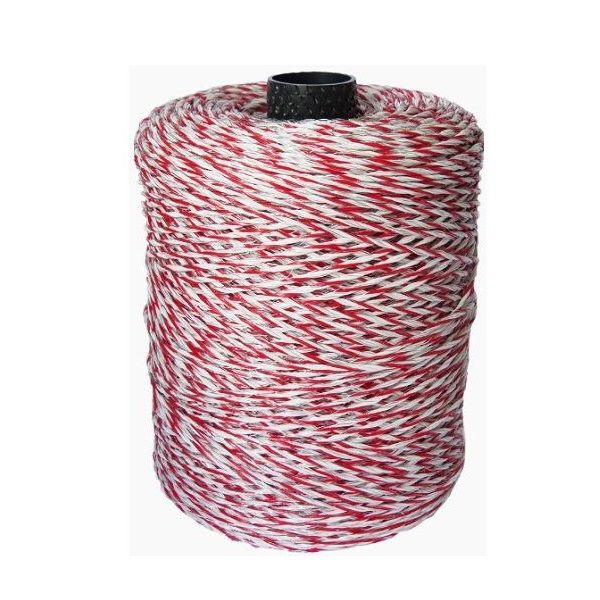 Fio Eletroplástico Cerca Elétrica Rural 20 X 08 Vermelho/Branco 500 Metros
