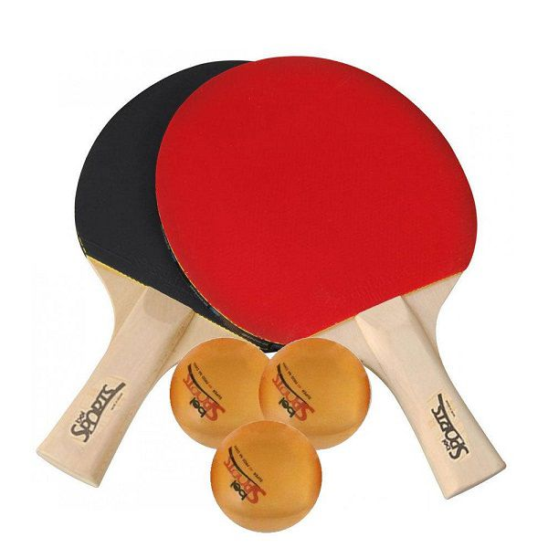 Kit Ping Pong Tênis De Mesa 2 Raquetes 3 Bolas Bel Sport