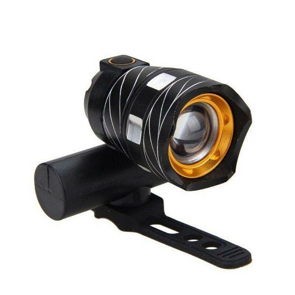Lanterna Farol Bike Led T6 15000 Lumens Recarregável USB Com Suporte