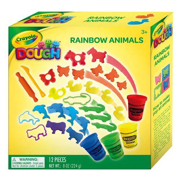 Massa de Modelar Crayola Animais Divertidos Com 12 Peças Multikids - BR1014