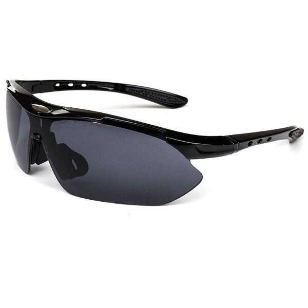 Óculos Ciclismo Bike MTB 8052 Esportes Uv 400 Preto + Case
