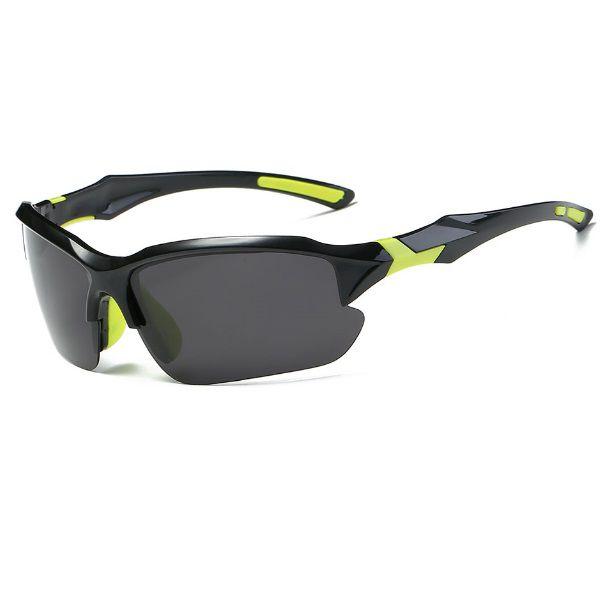 Óculos Ciclismo Bike MTB 9301 Esportes Polarizado Uv400 Preto/Amarelo + Case