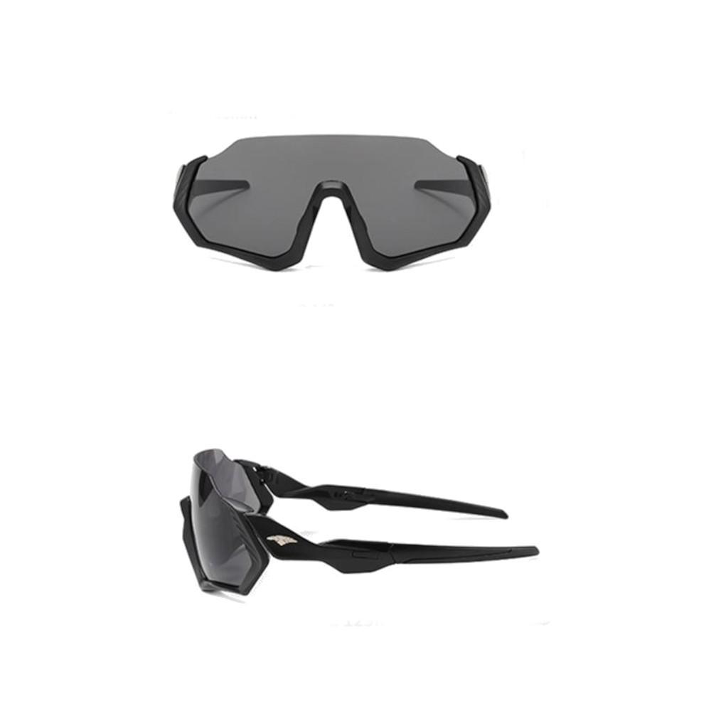 Óculos Ciclismo Bike MTB 9317 Esportes Preto Uv 400 + Case  - Casafaz