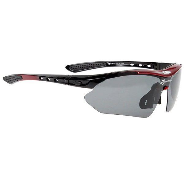 Óculos Ciclismo Esportes Polarizado Vermelho 5 Lentes Rockbros + Clip Lente De Grau  - Casafaz