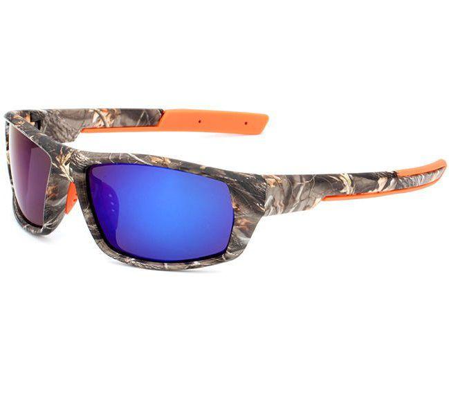 Óculos de Sol Polarizado Camuflado Uv Fs Yuri Yuan + Case