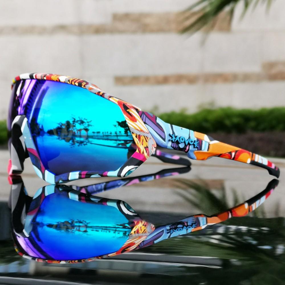 Óculos Polarizado Ciclismo Kapvoe 5 Lentes + Case + Clip
