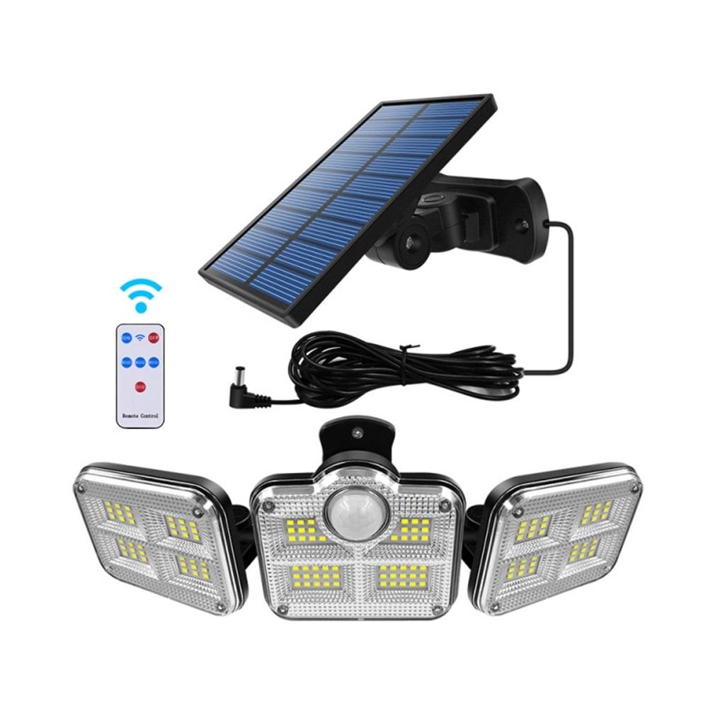 Refletor Solar Sensor Ligth 122 Leds Com Controle Remoto