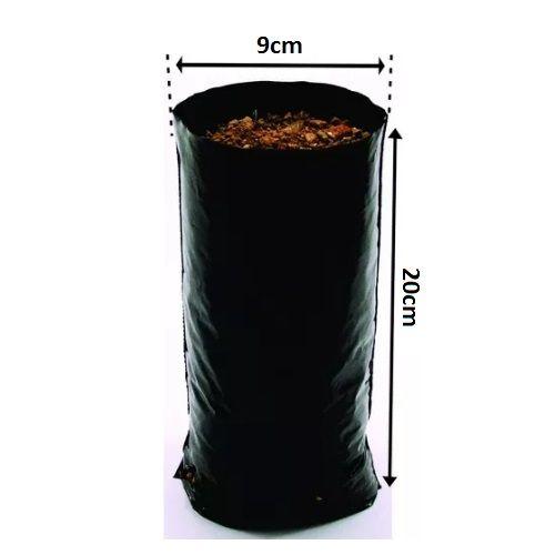 Saco Saquinho Plástico Para Mudas 15 X 25 500 Unidades  - Casafaz