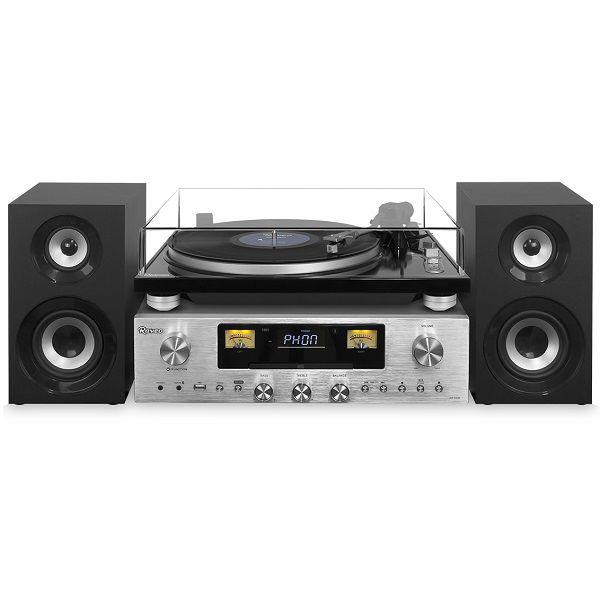 Vitrola Toca Discos Hi-Fi Raveo Concert One Com CD, Rádio, FM, USB e SD