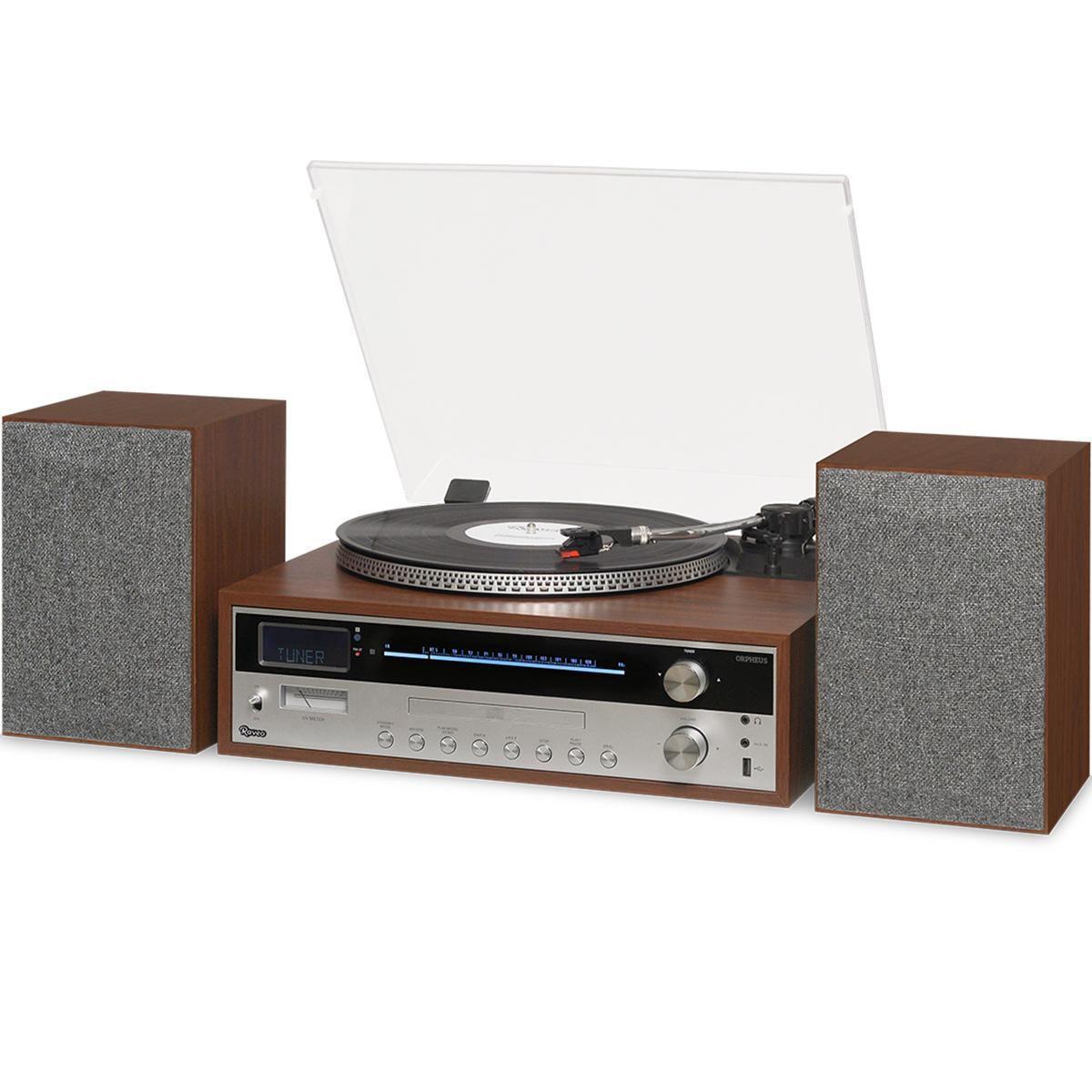 Vitrola Toca Discos Hi-Fi Raveo Orpheus Com CD, CD-R, Rádio, FM, USB e Bluetooth
