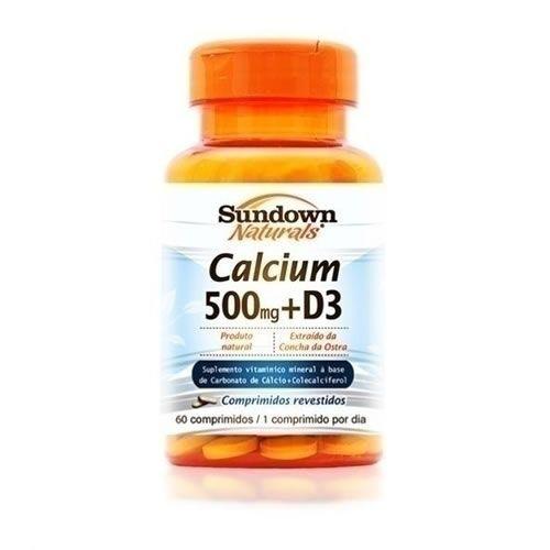 C�lcio 500mg (Carbonato de C�lcio)+Vitamina D - 60 C�psulas - Sundown