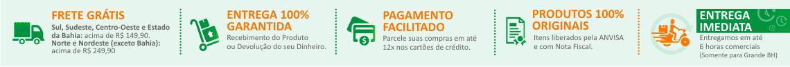 Frete grátis para todo brasil acima de R$ 149,90 - Produtos originais - Site 100% confiável - Parcelamento em até 12x no cartão de crédito - Entrega garantida receba seu produto ou dinheiro de volta