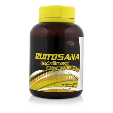 Quitosana Spirulina com Acerola e Biotina - 100 Cápsulas - Chá Mais