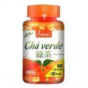 Chá Verde 500mg - 100+10 Cápsulas - Tiaraju