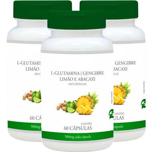 Detox Mais (L-Glutamina, Gengibre, Abacaxi e Limão) - ...