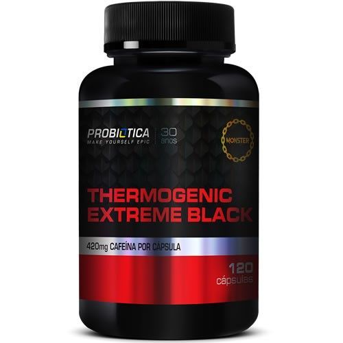 Thermogenic Extreme Black - 120 Cápsulas - Probiótica