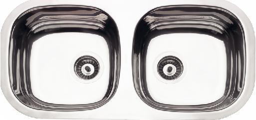 94061 / Cuba Dupla Retangular Borda Lisa 780 x 398 x 140mm - Perfecta - Tramontina  - COLAR