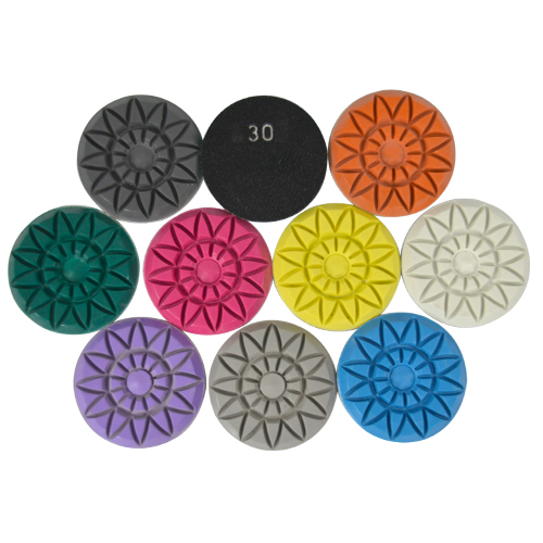 Disco de Polimento Rígido Para Mármores e Granitos Flower 75mm - Colar  - COLAR