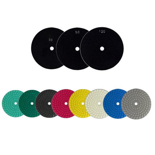 Disco de Polimento Semi-Flexível Para Mármore, Granilite, Concreto e Terrazzo Tek 180mm - Colar  - COLAR