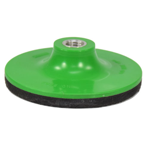 """Suporte De Lixa Com fecho de contato e Espuma 4"""" M14 Verde - Profix  - COLAR"""