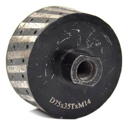 Rebolo Cilíndro D75 x 35 Tx M14   - COLAR