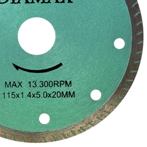 Disco Para Serra Mármore Turbo Extra Fino 115mm  - COLAR