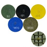 Disco de Polimento Rígido Para Concreto e Pedras Ornamentais Concrete-Dry 75mm - Colar