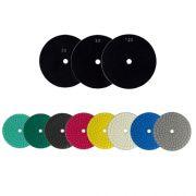 Disco de Polimento Semi-Flexível Para Mármore, Granilite, Concreto e Terrazzo Tek 180mm - Colar