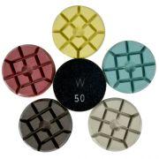 Disco de Polimento Rígido Para Concreto e Pedras Ornamentais Concrete-Wet 75mm - Colar