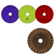 Disco de Desbaste Flexível Para Granitos e Silestone Cobre Resina 100mm - Colar