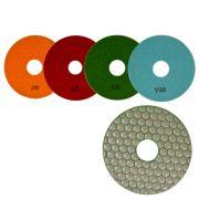 Disco de Polimento Flexível Para Mármores, Granitos e Pedras Ornamentais Dry Flex CH 125mm - Colar